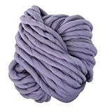 Yunt 250g Pelote de Grosse Laine Fils a Tricoter pour Echarpe Bonnet (Gris Argent)