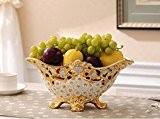 Yuyuan Euro Table de salon Ornements Vin Cabinet Meuble TV Décorations Fleur de vase en céramique Crafts Creative cadeaux, C
