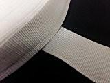 Yuzet x 50m x 50mm de large en polypropylène Blanc Sangle en toile Sangle Web