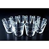 10 x Petits photophores en verre ALEX, transparent, 7,5 cm, Ø 7,5 cm - Mini photophore / Porte bougie rond ...