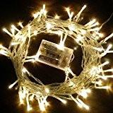 10M Guirlande Lumineuses Batterie , 80 LEDs avec 2 Modes de Fonctionnement Fée LED pour Mariage, Anniversaire, Sapin de Noël, ...