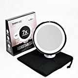 10x Magnifying Lighted Makeup Mirror. Warm LED Tap Light Bathroom Vanity Mirror. Wireless & Compact Travel Mirror | Includes free ...