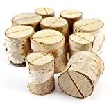 10x stand bois de bouleau support photo carte nom place numéro table 2,6x3,2cm