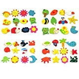 12 en Bois Aimant Frigo Magnet Animaux Sticker Magnétique Refrigi Jouet Enfant
