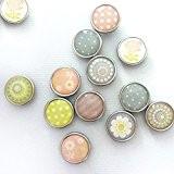 12 mini magnets époxy - Ø12mm - Printemps - Graines créatives