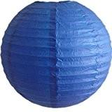 12pcs Bleu Lanternes Boule en Papier Décoration Mariage Anniversaire