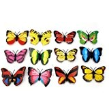 12x 3D Papillons Artificiel Décoratifs Aimants Décor Réfrigérateur Frigo Maison