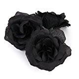 20 pcs Têtes de Rose Noire Artificielles Pour Décoration de Maison Mariage Accessoire DIY
