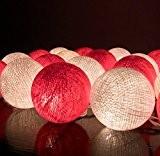 20/Set Classique Boule Coton Léger Rouge Blanc Pour Noël Parti Décor à la Maison