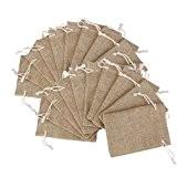 sachet en jute petit sac en tissu 13 x 18cm sachet dragees mariage 10 Pochette /à bijoux sac cadeau /à cordon coulissant