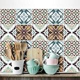 25 carrelage 20x20 cm - PS00038 PVC autocollants carreaux pour salle de bains et cuisine Stickers design - Collage 70 ...
