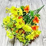 28 pcs Différent Couleurs Bouquet de Fleurs Artificielles pour la Décoration Jardin Maison Fête Anniversaire Mariage DIY
