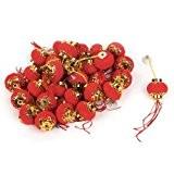 3,7 cm de diamètre en forme de citrouille de décoration en forme de lanterne chinoise Rouge Lot de 30