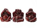 3 Statuettes Bouddhas de La Sagesse - Précepte Ne Rien Voir, Dire, Entendre
