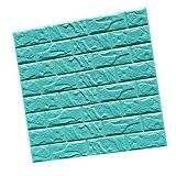 3D Brique Autocollant Etanche Mural Sticker Carrelage Auto-adhésif pour Décor Maison 60cmx60cm - Bleu # 1