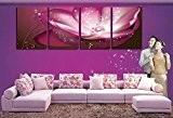4 romantiques peintures bonheur de fleurs peinture sans cadre le salon peintures murales 120cm * 40cm , type 1