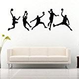 45X126CM Jouer Basketball Stickers muraux amovibles Sport Decal Accueil Chambre Wall Sticker DŽcor