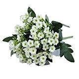 49 chefs Bounquet Jasmine artificielle fleur artificielle pour Home Decor sans Vase & Basket, 1Bunch de Fleur, Blanc