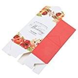 50pcs Boîtes De Bonbons Gâteau Biscuits Coffrets Faveur De Mariage Décor En Papier - rouge, 6,5 x 4,7 x 12cm