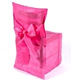 6 housses de chaise 3 pans rose fushia papier intissé jetable ou réutilisable