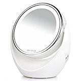 7x Magnif ICA tion Make Up Mirror with LED 10x Magnif ICA tion Tabletop 360Degree Swivel Chrome with Bright LED ...