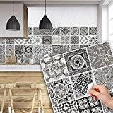 81 carrelage 10x10 cm - PS00028 PVC autocollants carreaux pour salle de bains et cuisine Stickers design - Décorations en ...