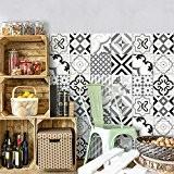 81 carrelage 10x10 cm - PS00082 PVC autocollants carreaux pour salle de bains et cuisine Stickers design - Otranto