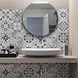 81 carrelage 10x10 cm - PS00094 PVC autocollants carreaux pour salle de bains et cuisine Stickers design - Medina