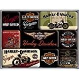 9 mini-magnets Harley Davidson