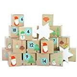 A Calendrier de l'Avent - Set de bricolage - 24 Boîtes en carton - Père Noël - pour la fabrication ...