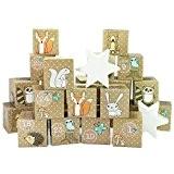 A Calendrier de l'Avent - Set de bricolage - 24 Boîtes en carton - Woodland Animaux - pour la fabrication ...