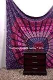 Aakriti Gallery Tapisserie Drap de plage Décoration murale à suspendre Couvre-lit Mandala indien Rose Violet 233,7x 208,3cm