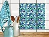 Adhésif Autocollant - Sticker Carrelage   Recouvrir Carreaux de ciment - Embellir dosseret cuisine et faience salle de bain   ...