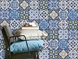 Adhésif décoratif - Autocollant carrelage| Stickers carreau ciment - Rénover mural de salle de bain et cuisine | Facile à ...