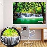 Affiche Cascade Feng Shui - Décoration murale vacance paradisiaque dans une Forêt Tailandaise en Asie avec Wellness Spa Relax | ...