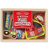 Aimants en bois Animaux de la ferme 20 Magnets en bois pour enfants 2 ans +