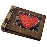 Album photo en bois noble 75 feuilles 150 pages noires Cadeau idéal pour mariage