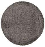 Alterego - Tapis design 'CAVA' rond 160 cm à poils longs gris