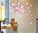 Amovible Stickers Muraux Mur Autocollant Fleurs Papillon Decal Art Diy Maison Decoration de la maison YHF-0110