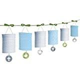 Amscan Guirlande de lanternes en papier Bleu 2 m
