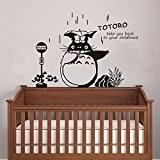 amusante Totoro en pluie Sticker mural Bébé mur Art Decor (100x 64cm) Mon voisin Totoro mural amovible en vinyle