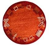Andiamo Fiorina 1100147 Tapis rond Couleur terre cuite 120cm