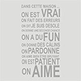 aooyaoo autocollants mur décalcomanie phrases en français autocollants 42 * 80 cm
