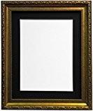ap-3025or cadre photo avec contour noir, blanc, ivoire, rose ou bleu clair gris, Plastique, Black Mount, 40x50 cm Pic Size ...