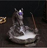 Art en céramique Craft Carpe Dragon fumée le Reflux d'encens Brûleur Holder + 10Cônes