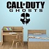 Art Sticker mural pour chambre de garçon Motif Call of Duty Ghosts Jeux Hall (x Grand)