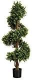 Artificielle en buis (buis) topiaire spirale tronc d'arbre. Real Wood, convient pour une utilisation en extérieur. (1.5m) 5ft Green