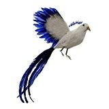 0b5d5234c52c8 Artificielle Longue Queue Oiseau Maison Jardin Décoration - Blanc Bleu
