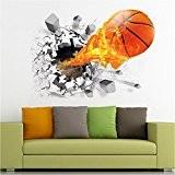 ASIV 3D Basket-ball Murale Sticker Autocollant pour Décoration