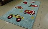 Aspect pour enfants Jeux Chambre tapis de sol pour Aqua garçons Road Works, En Plastique, Bleu